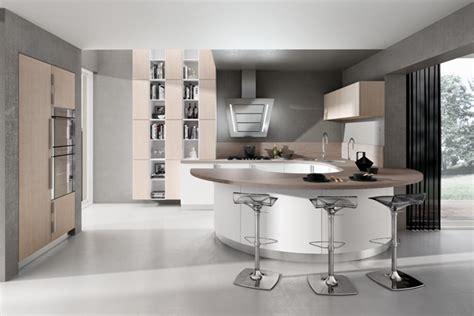 bar cuisine design cuisine design blanche arrondie