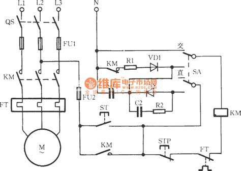 contactor operation diagram ac contactor power saving noiseless operation circuit