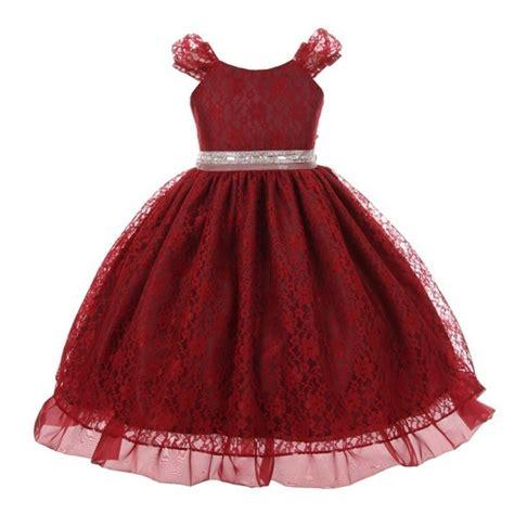 trimming traditions large glittery big girls burgundy glitter rhinestone trim lace junior bridesmaid dress 10 sophia s style