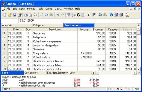 banana cashbook    banana cash book software
