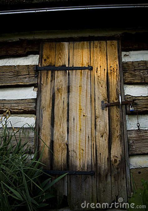 door  log cabin stock photo image  wrought door