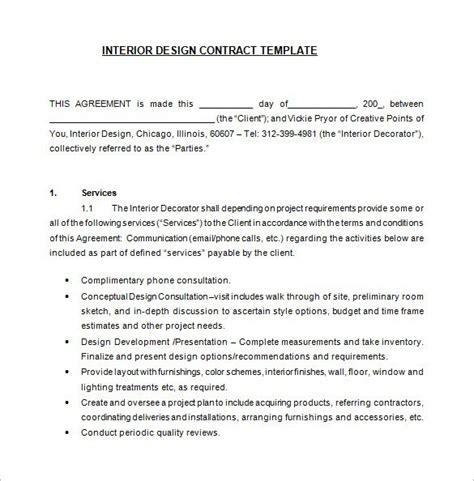 interior design quotation templates ms office