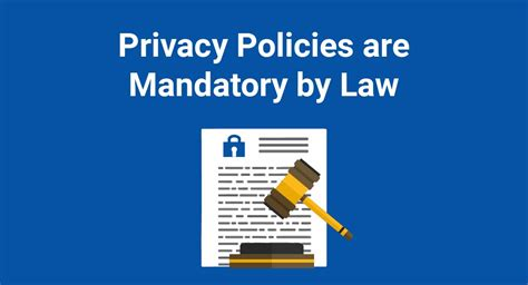 Privacy Policies Are Mandatory Law Termsfeed