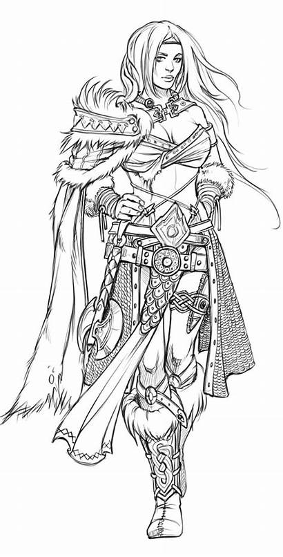 Costume Concept Coloring Pages Drawings Line Fantasy