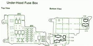 1992 Honda Accord Under The Hood Fuse Box Diagram