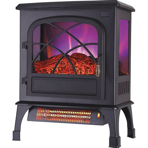electric heat profusion stove flame stoves heaters btu t3 heater fireplaces heating tool northern tools equipment effect main quick info