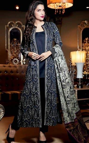 gul ahmed top  winter trend jacket suits coat kameez