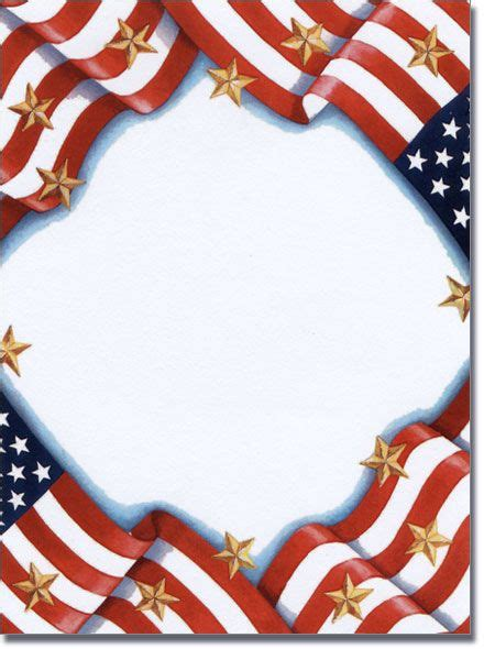 patriotic page borders memorial day invitations