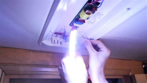 convert fluorescent rv lights  leds youtube