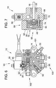 patente us7052252 port configuration for fuel pump unit With fuel pump drawing