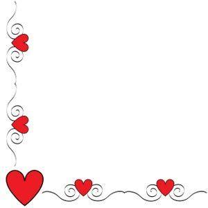 Valentine Border Clip Art | Hearts Clip Art Images Hearts ...