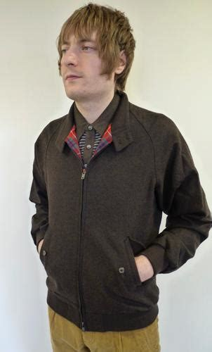 baracuta hazelwood  retro slim fit   mod herringbone harrington