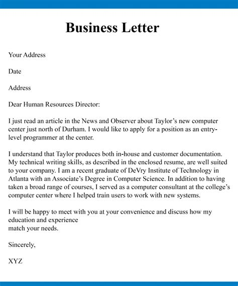 start  business letter  complete guideline