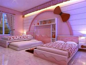 comfortable girls bedroom decorating ideas with hello With amazing 3 bed room designs
