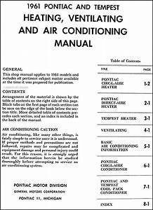 1961 Pontiac Air Conditioning Repair Shop Manual Original