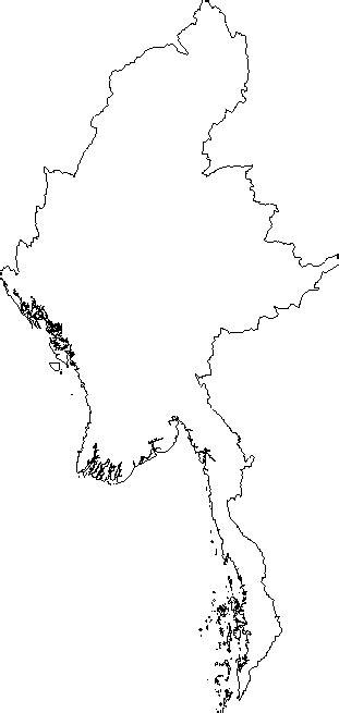 blank outline map  burma