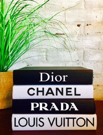 designer books chanel louis vuitton dior prada