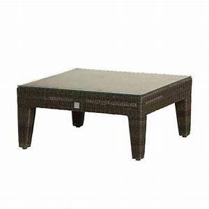 Table Basse Resine Tressee : table basse en r sine tress e grise ou poivre brin d 39 ouest ~ Teatrodelosmanantiales.com Idées de Décoration