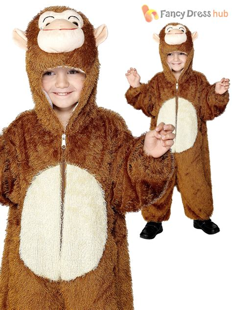 Age 4-9 Kids Cheeky Monkey Outfit Childrens Fancy Dress Costume Book Week Boys | eBay