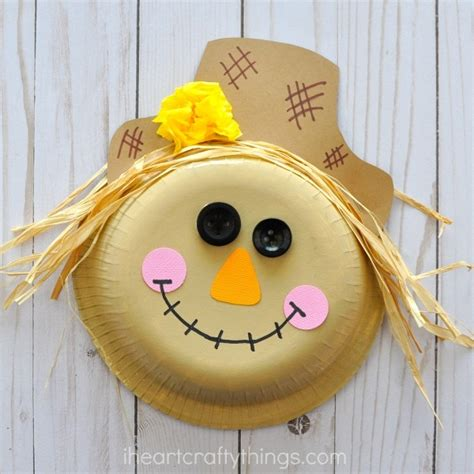 Paper Bowl Scarecrow Craft  I Heart Crafty Things