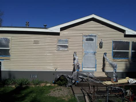 can i paint my mobile home yes i can my mobile home