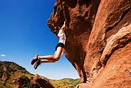 Women Rock Climbing Colorado