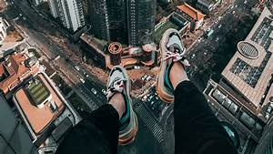 Wallpaper of Legs, Roof, Skyscrapers, Freedom, Overview