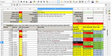 cis benchmark excel spreadsheet spreadsheet  cis