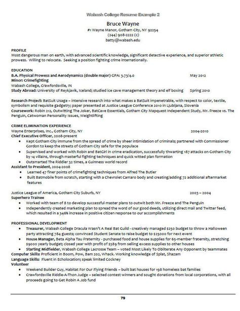 College Academic Advisor Resume by Wabash College Schroeder Center For Career Development Crawfordsville Indiana