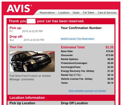 Free Weekend Rental With Avis