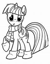 Coloring Pony Pages Christmas Cute Winter Mlp sketch template