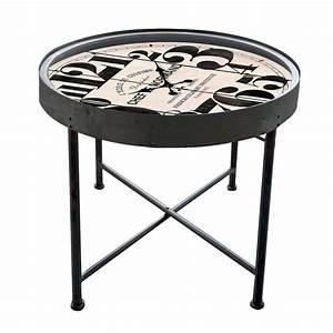 Table Basse Horloge : horloge table basse retro cocktail scandinave ~ Teatrodelosmanantiales.com Idées de Décoration