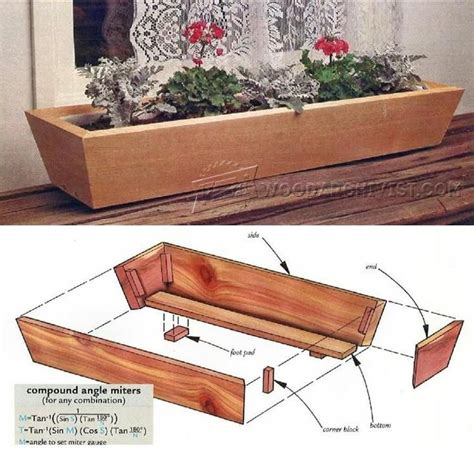 ideas  planter box plans  pinterest planter box designs wooden planter boxes