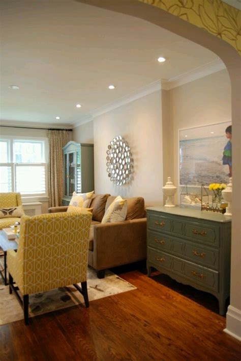 Teal  Mustard Yellow Home Decor Family Room
