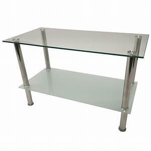 Beistelltisch Glas Edelstahl : beistelltisch aus glas f e in edelstahl kaufen bei lifestyle4living m belvertrieb gmbh co kg ~ Indierocktalk.com Haus und Dekorationen