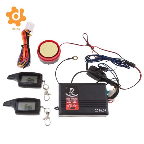 two way motorcycle alarm with remote engine start 2 lcd remote transmitters in exhaust exhaust