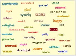 Emotions Feelings Word List