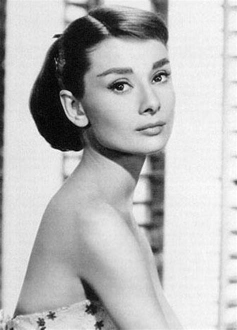 sophisticated young updo audrey hepburn hairstyle