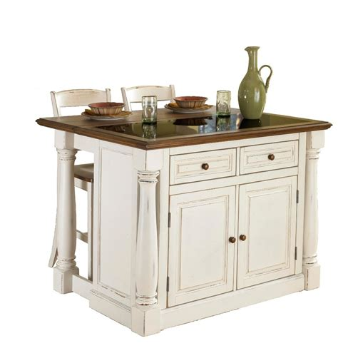 ilot de cuisine antique dmi furniture 206 lot de cuisine quot monarch quot dessus granite avec 2 tabourets blanc antique home