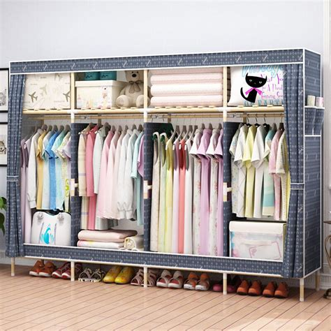 Bookcase For Clothes by 2019 Hhaini 82 Portable Wooden Closet Storage