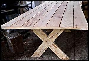 Table Jardin En Bois : table en bois massif d ext rieur tables en bois massif ~ Teatrodelosmanantiales.com Idées de Décoration