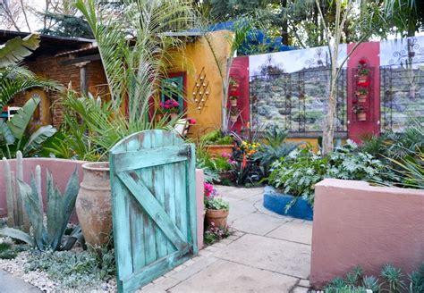 mexican colonial hacienda style courtyard garden designed  sonita young  young landscape