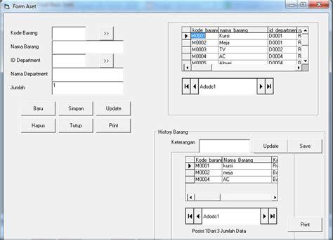 lilis suryani cara membuat form aset pada visual basic 6 0