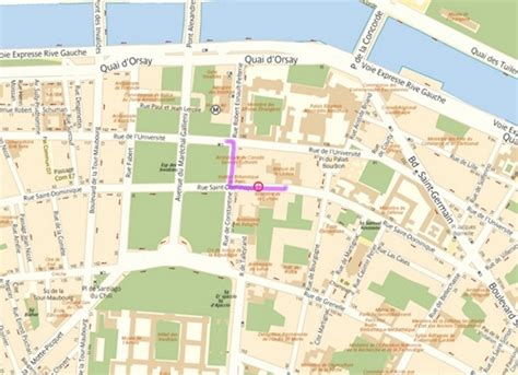 map of how to get to the maison de la chimie