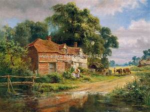 Robert Gallon An Old Surrey Farm Landscape painting Or
