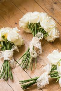 Non-Traditional Wedding Bouquets with Lace