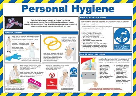 hygiene cuisine personal hygiene poster catersigns limited