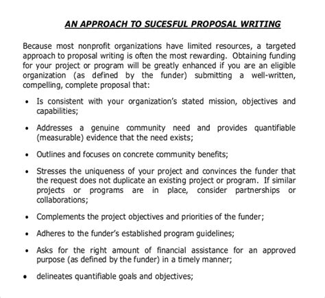 Writing A For Funding Template by 11 Grant Writing Templates Free Sle Exle Format
