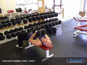 Close Grip Dumbbell Press  Video Exercise Guide  U0026 Tips