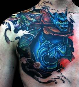 100 Japanese Samurai Mask Tattoo Designs For Men